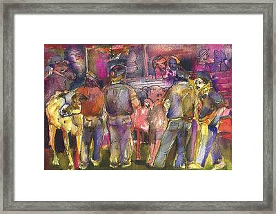 State Fair Cattle Show Framed Print by Mindy Newman