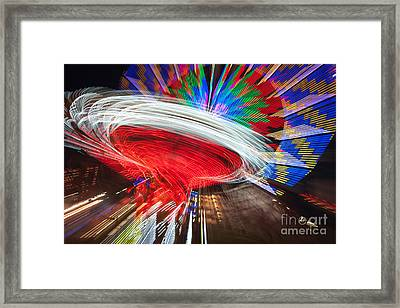 State Fair Rides At Night Iv Framed Print by Clarence Holmes