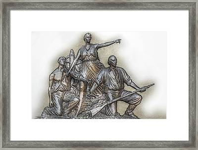 State Of Alabama Monument At Gettysburg Framed Print