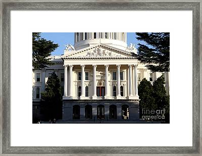 State Of California Capitol Building . 7d11737 Framed Print