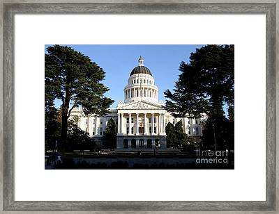 State Of California Capitol Building . 7d11743 Framed Print