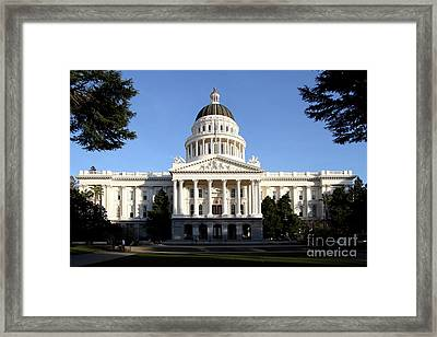 State Of California Capitol Building . 7d11746 Framed Print