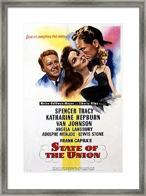State Of The Union, Poster Art, Spencer Framed Print by Everett