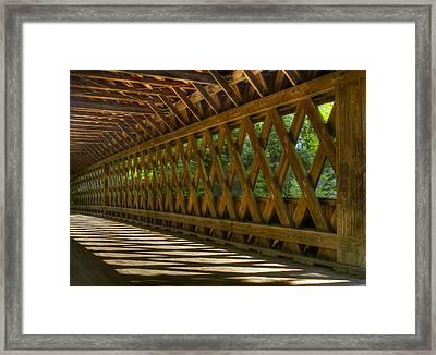State Road Covered Bridge Framed Print