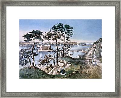 Staten Island And The Narrows, Currier Framed Print by Everett