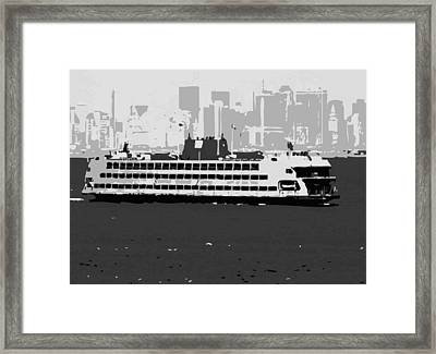 Staten Island Ferry Bw3 Framed Print by Scott Kelley
