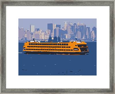 Staten Island Ferry Color 16 Framed Print by Scott Kelley