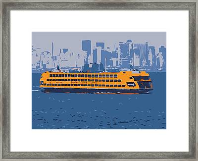 Staten Island Ferry Color 6 Framed Print by Scott Kelley