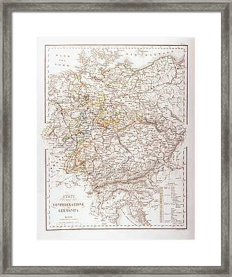 States Of The German Confederation Framed Print by Fototeca Storica Nazionale