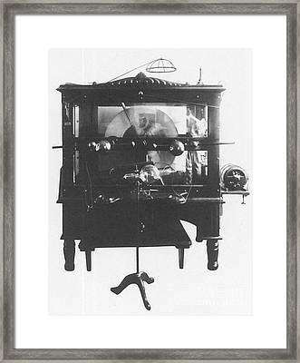 Static Electric Machine With X-ray Framed Print