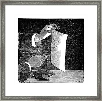 Static Electricity, 19th Century Framed Print by
