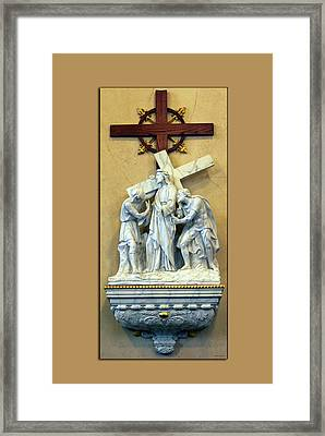 Station Of The Cross 02 Framed Print by Thomas Woolworth