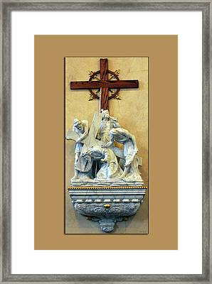 Station Of The Cross 03 Framed Print by Thomas Woolworth