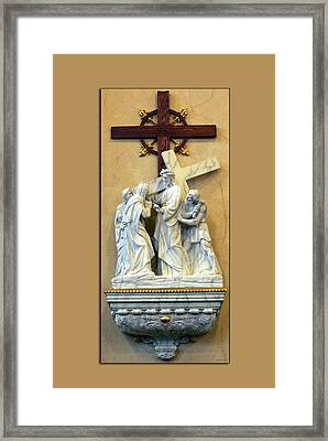 Station Of The Cross 04 Framed Print by Thomas Woolworth