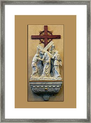 Station Of The Cross 05 Framed Print by Thomas Woolworth