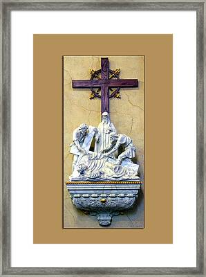 Station Of The Cross 09 Framed Print by Thomas Woolworth