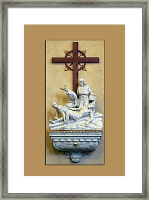 Station Of The Cross 11 Framed Print by Thomas Woolworth