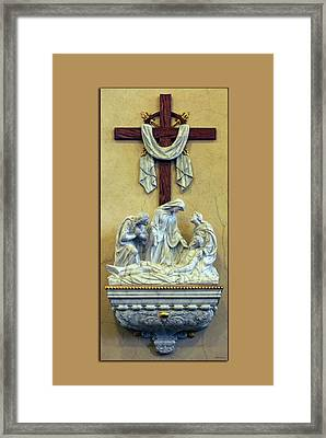 Station Of The Cross 13 Framed Print by Thomas Woolworth