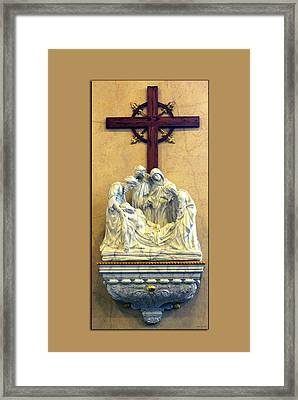 Station Of The Cross 14 Framed Print by Thomas Woolworth