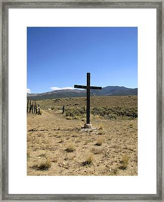 Stations Of The Cross  Framed Print by Ann Powell