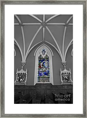 Stations Of The Cross Framed Print by Susan Candelario