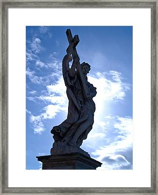 Statue In Rome Framed Print by Andres Leon