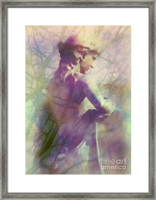 Statue In The Garden Framed Print by Judi Bagwell