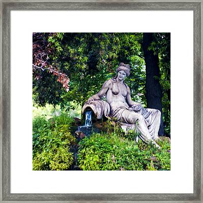 Statue In The Woods Framed Print by Fabrizio Troiani