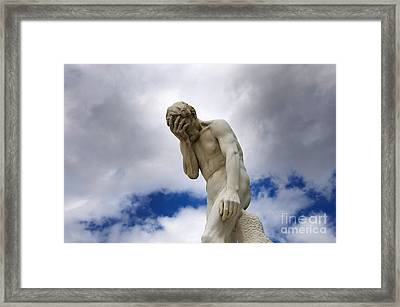 Statue. Jardin Des Tuileries. Paris. Framed Print by Bernard Jaubert