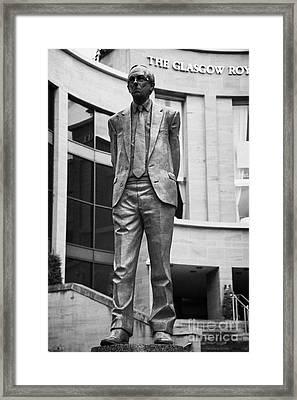 Statue Of Donald Dewar Scotlands First Ever First Minister Glasgow Scotland Uk Framed Print by Joe Fox