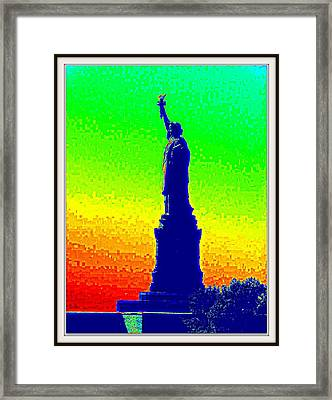 Statue Of Liberty-1 Framed Print by Anand Swaroop Manchiraju