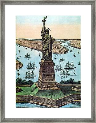 Statue Of Liberty, 1884 Framed Print by Photo Researchers
