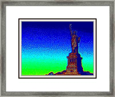 Statue Of Liberty-3 Framed Print by Anand Swaroop Manchiraju