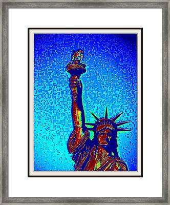 Statue Of Liberty-4 Framed Print by Anand Swaroop Manchiraju
