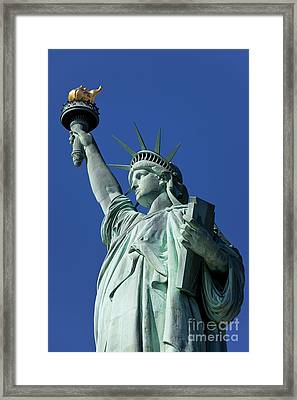 Statue Of Liberty Framed Print by Brian Jannsen
