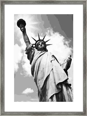 Statue Of Liberty Bw16 Framed Print by Scott Kelley