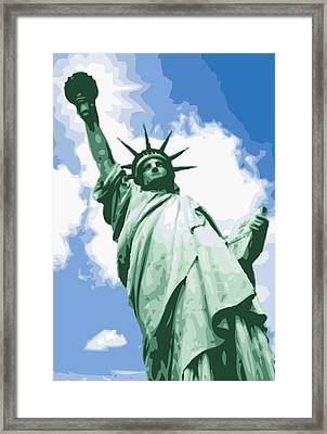 Statue Of Liberty Color 16 Framed Print by Scott Kelley
