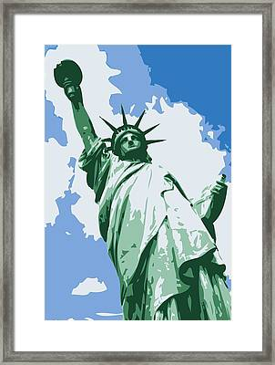 Statue Of Liberty Color 6 Framed Print by Scott Kelley