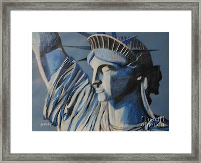 Statue Of Liberty Framed Print by Nedunseralathan R