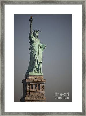Statue Of Liberty, New York, Usa Framed Print