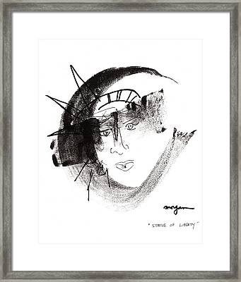 Statue Of Liberty Framed Print by Patrick Morgan
