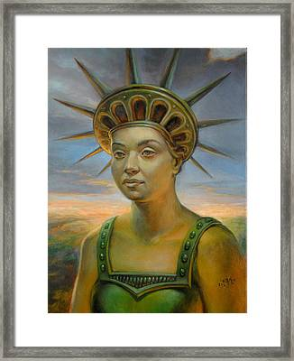 Statue Of Liberty Still Alive Framed Print by Jiri Mesicki