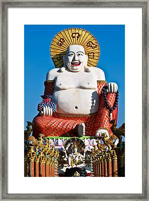 Statue Of Shiva Framed Print by Adrian Evans