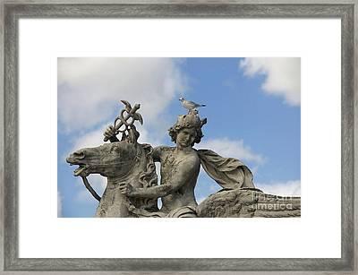 Statue . Place De La Concorde. Paris. France Framed Print by Bernard Jaubert