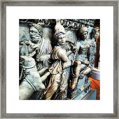 (#statues #ancientgreece #nude #art Framed Print