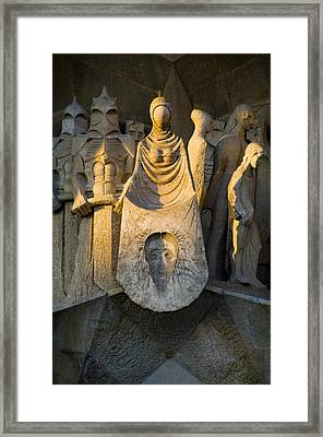 Statues At Gaudis La Sagrada Familia Framed Print by Annie Griffiths