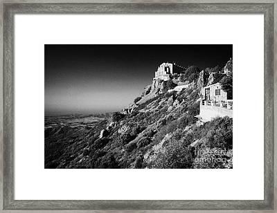 Stavrovouni Monastery Cyprus Framed Print