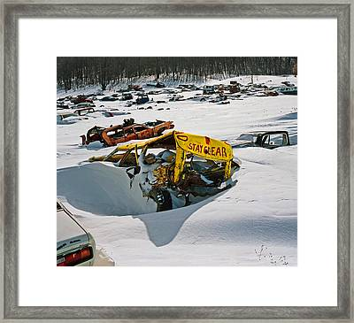 Stay Clear Framed Print by James Rasmusson