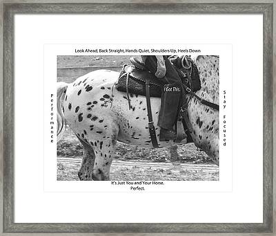 Stay Focused Framed Print by Betsy Knapp