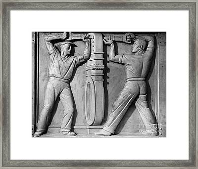 Stea: Sewage Workers Framed Print by Granger